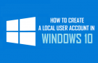Create A Local User Account in Windows 10