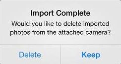 Delete or Keep Pictures On Camera