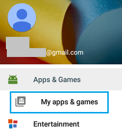 Google Play My Apps and Games Option