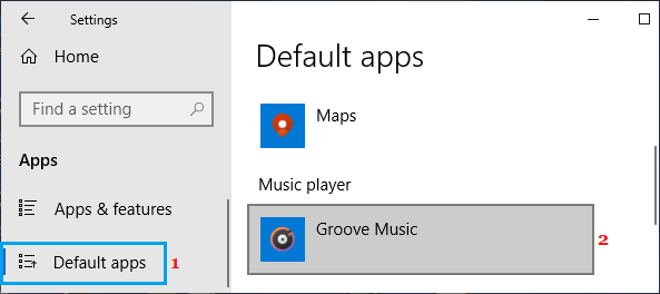 Groove Music Default Music App in Windows