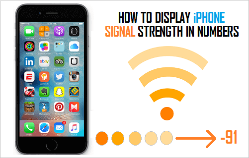 Display iPhone Signal Strength in Numbers