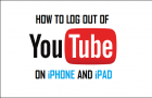 Logout of YouTube On iPhone and iPad