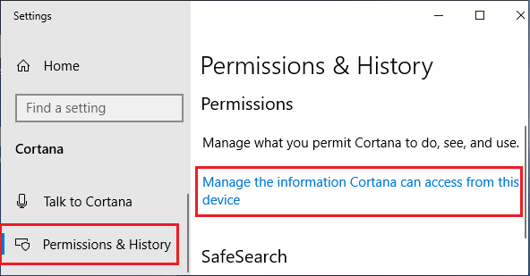 Manage Information That Cortana Collects in Windows 10