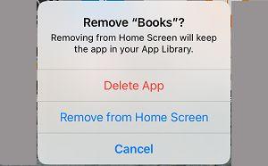 Delete App Option on iPhone