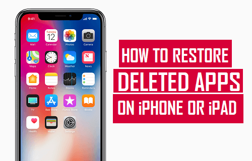 How to Restore Deleted Apps on iPhone or iPad