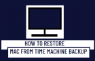 Restore Mac from Time Machine Backup