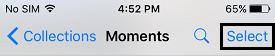 Select Photos Option iOS 9
