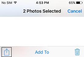 Share Photos icon iOS 9