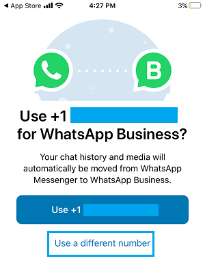 Use a Different Phone Number For WhatsApp Business