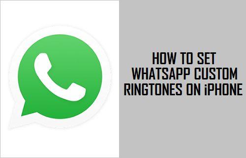 WhatsApp Custom Ringtones on iPhone