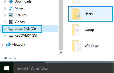 Account Users Folder In Windows 10
