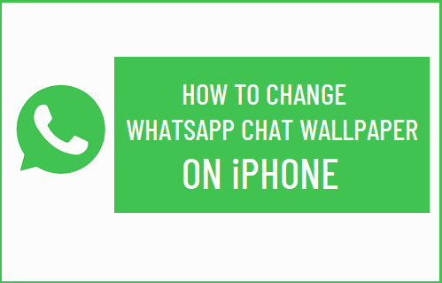 Change WhatsApp Chat Wallpaper on iPhone