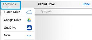 Choose Cloud Storage Location On iPhone