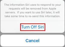 Turn of Siri Completely iOS 9