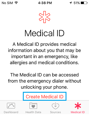 Create Medical ID Link
