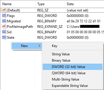 Create New Dword File