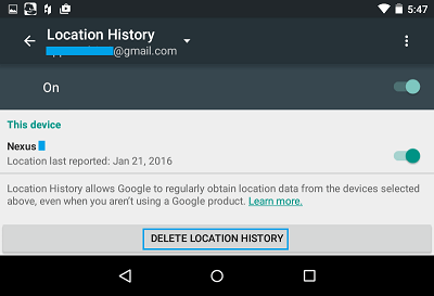 how to find deleted history on tablet