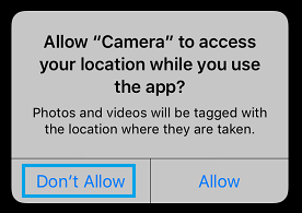 Disallow iPhone Camera Access to Your Location Information