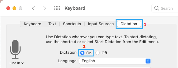 Enable Dictation Mode on Mac