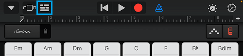 Project Icon in GarageBand App