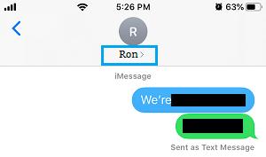 iMessage Sender Name
