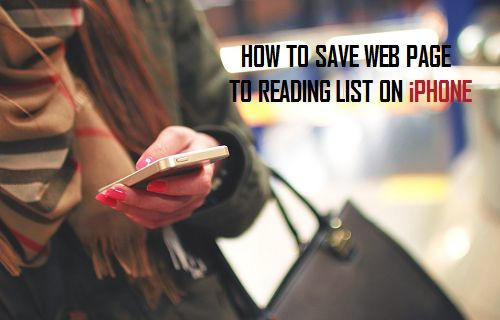 Save WebPages to Reading List on iPhone