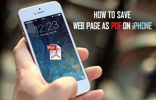How to Save Webpages as PDF on iPhone and iPad
