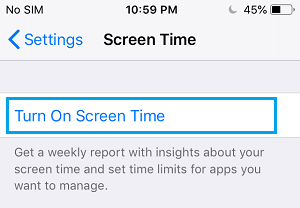 Turn On Screen Time on iPhone