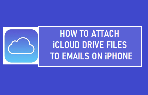 Attach iCloud Drive Files to Emails On iPhone