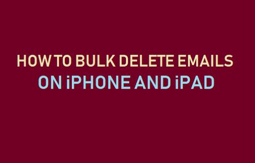 Bulk Delete Emails on iPhone or iPad