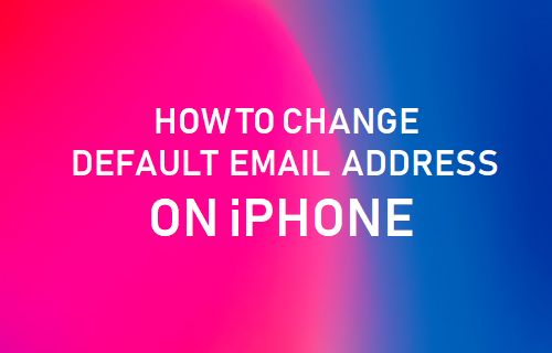 Change Default Email Address On iPhone