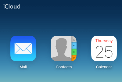 Contacts icon on iCloud