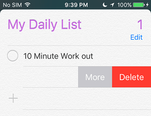 Delete Reminder on iPhone