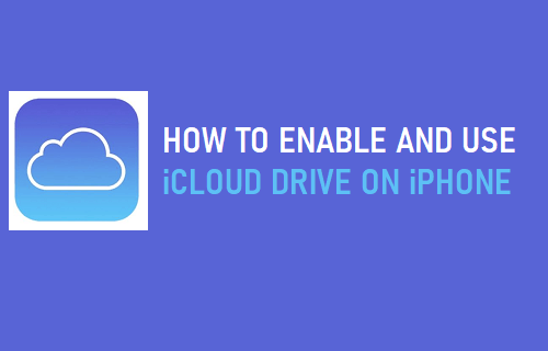 Enable and Use iCloud Drive on iPhone
