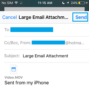 how to send large video from iphone how to email large files on iphone using mail drop 4891