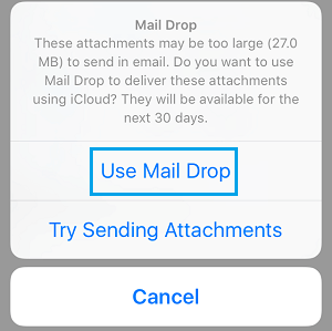 Use Mail Drop Option