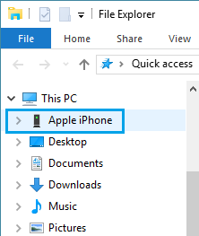 Apple iPhone On Windows File Explorer
