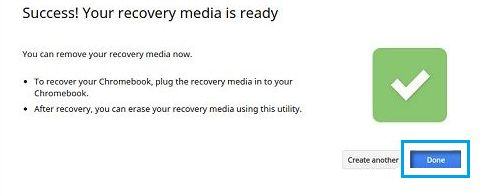 Chrome Recovery Media Ready Prompt