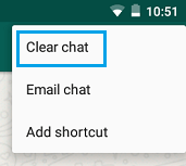 WhatsApp Clear Chat Tab on Android Phone