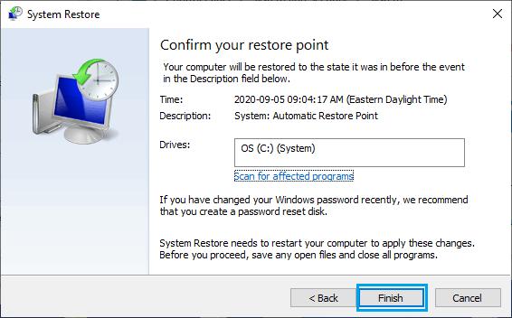 System Restore Windows Computer