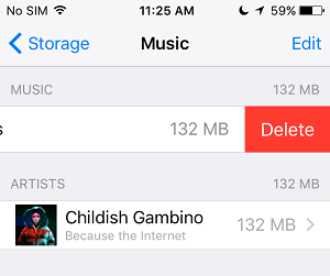 Delete All Songs From iPhone
