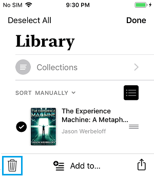 Delete Selected Books From iPhone
