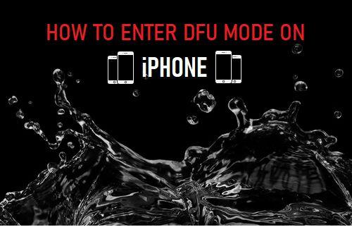 Enter DFU Mode on iPhone