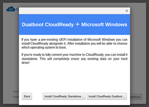 Install CloudReady Standalone or Dualboot