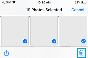 Delete Selected Photos on iPhone