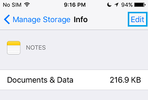 Documents and Data Related to Notes app