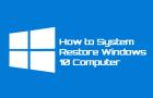 System Restore Windows 10 Computer