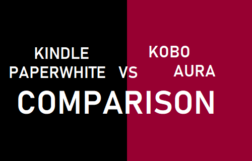 Kindle Paperwhite Vs Kobo Aura Comparison