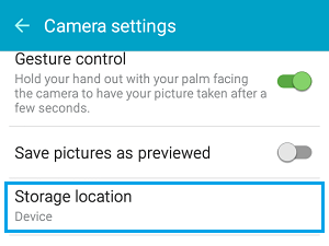 Photo Storage Location on Android Phone