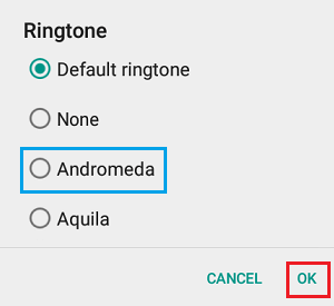 Select Ringtone WhatsApp Android